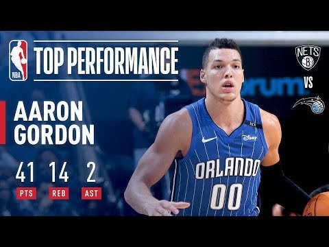 Aaron Gordon Leads Magic With A Career-High 41 Points! | October 24, 2017