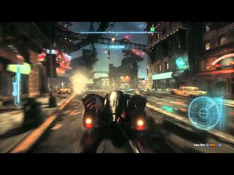 Batman: Arkham Knight - 1989 Batmobile Free Roam Gameplay
