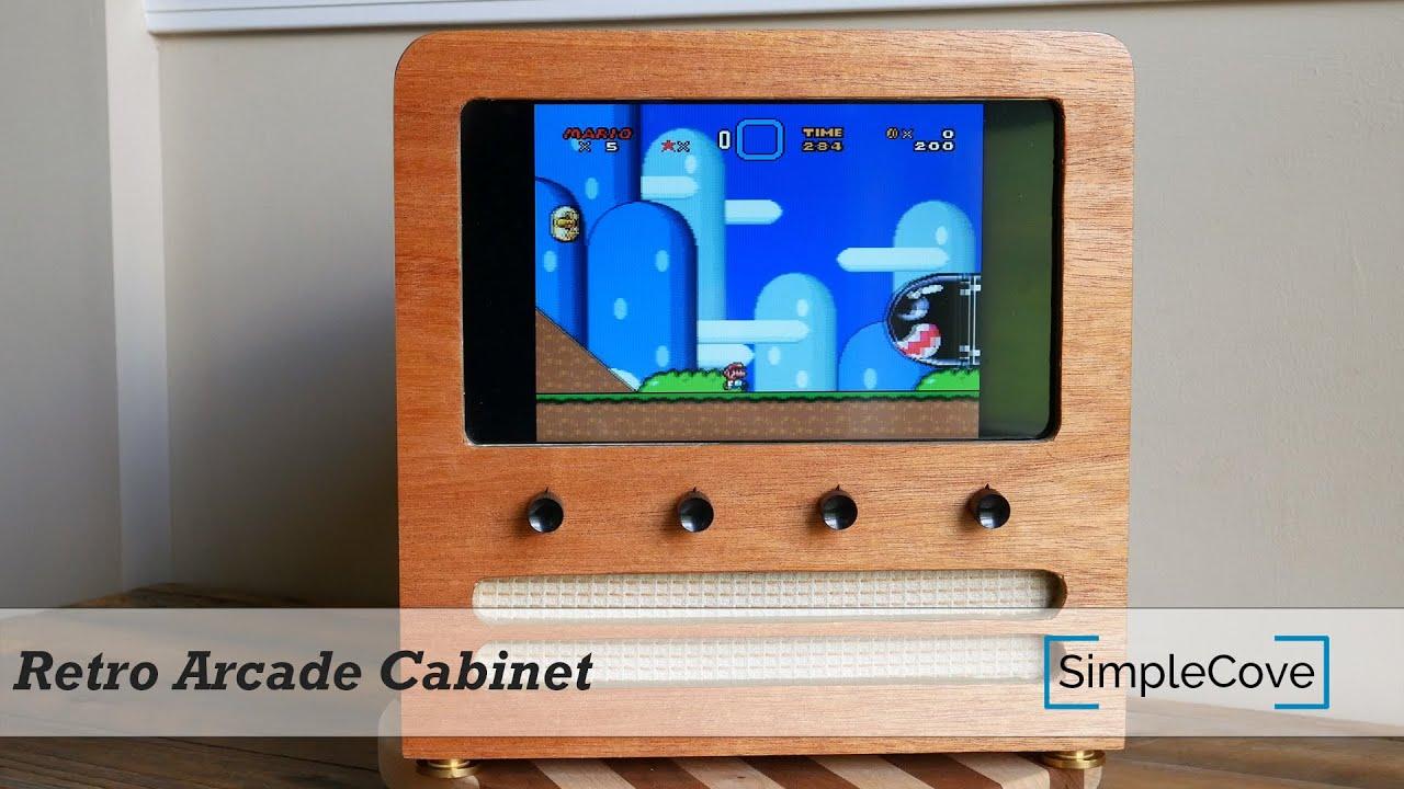 Raspberry Pi Game Cabinet Retro Arcade Cabinet Using A Raspberry Pi Retropie Youtube