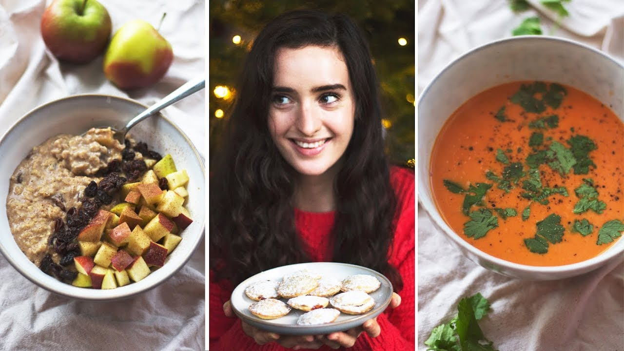 WHAT I EAT IN WINTER | Vegan, easy and festive comfort foods!