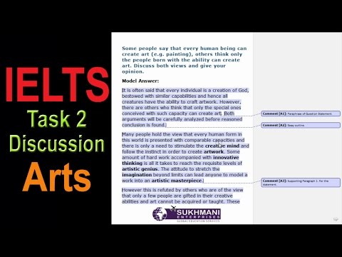 IELTS Writing Discussion Essay Arts Topic Mp3