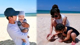 Lý Hải cưng nựng cậu út trong kỳ nghỉ ở biển - Tin Tức Sao Việt