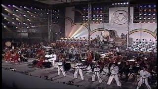 1996年に那覇市奥武山公園にて、アトランタオリンピックの壮行激励会と...