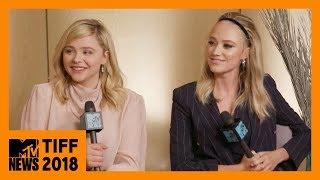 Chloë Grace Moretz & Maika Monroe on 'Greta'   TIFF 2018   MTV News