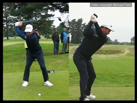 Ryan Fox golf swing Driver (face-on & down-the-line), US Open Qualifying, June 2018.