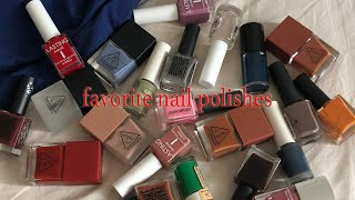 favorite nail polishes 로드샵 네일 …