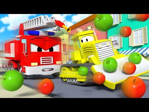 The Stolen Apples ! The Car Patrol in Car City 🚓 🚒  l Cartoons for Children