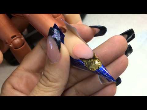 24k gold nails