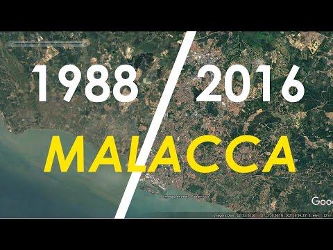 Malacca area timelapse 1988 - 2016