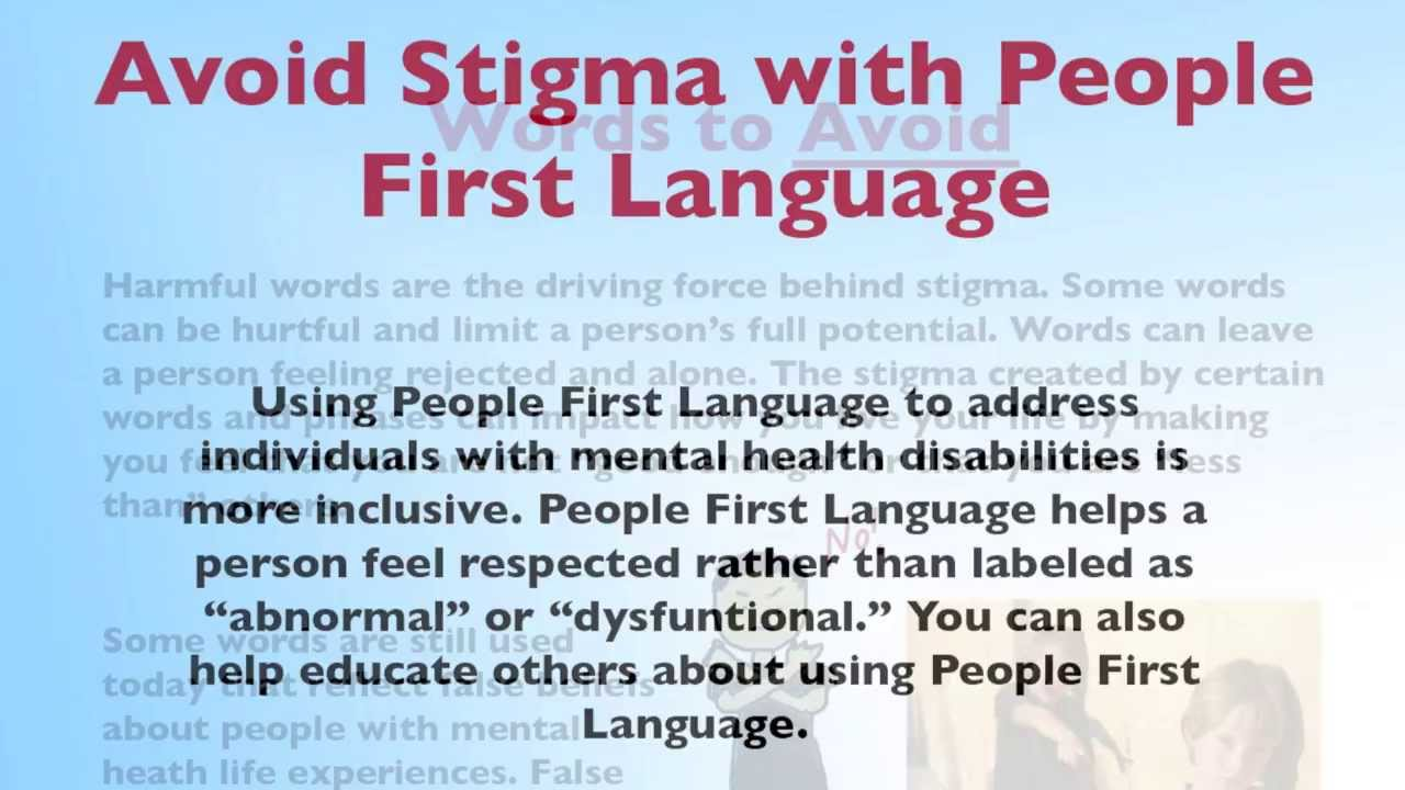 People First Language In Mental Health Part 2 Youtube