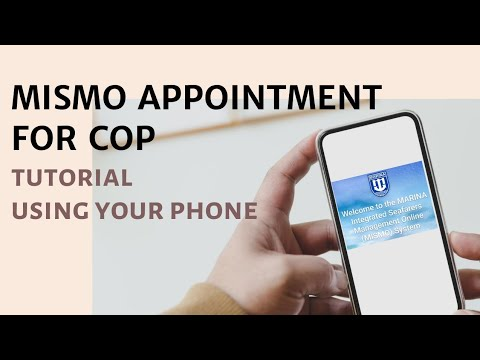 How to apply MISMO appointments for certification(COP)