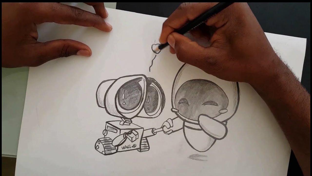 Dibujo De Amor A Lápiz Facil De Hacer Para Mi Novia Youtube