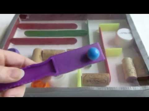 DIY Marble Run Toy from recycled materials