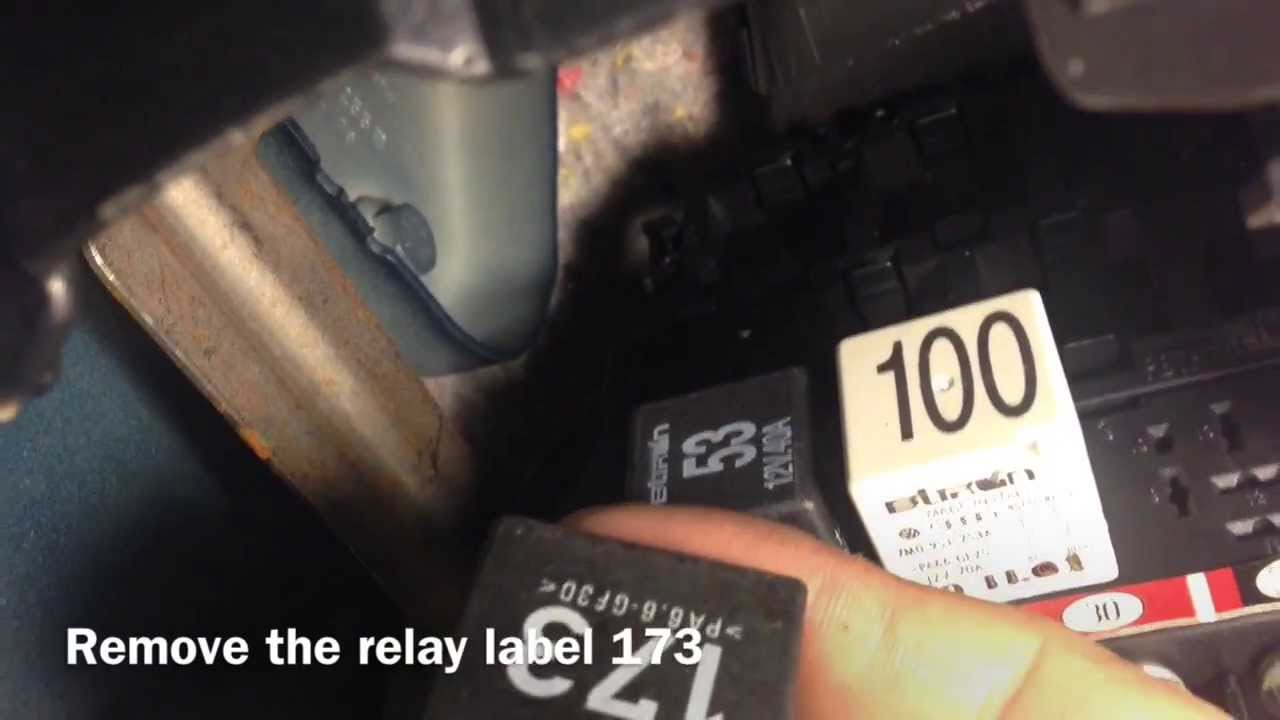 2009 Vw Beetle Fuse Box How To Disable Driving Lights Drl On A Vw Jetta Youtube