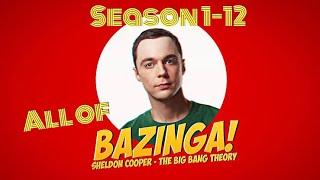All Sheldon Cooper's BAZINGAS || The Big Bang Theory || Season 1 - 12 || 2019 || HD