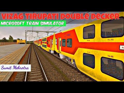 Visakhapatnam Tirupati Double Decker Exp Part-2 in MSTS Open Rails  By Sumit Mehrotra