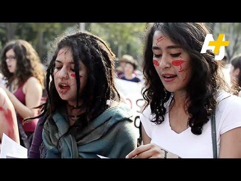 Mexico Marchers Protest Violence Against Women