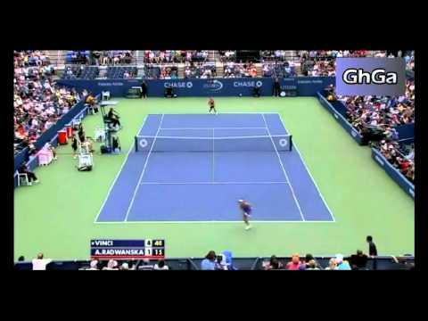 Roberta Vinci vs Agnieszka Radwanska 2012 US Open Highlights