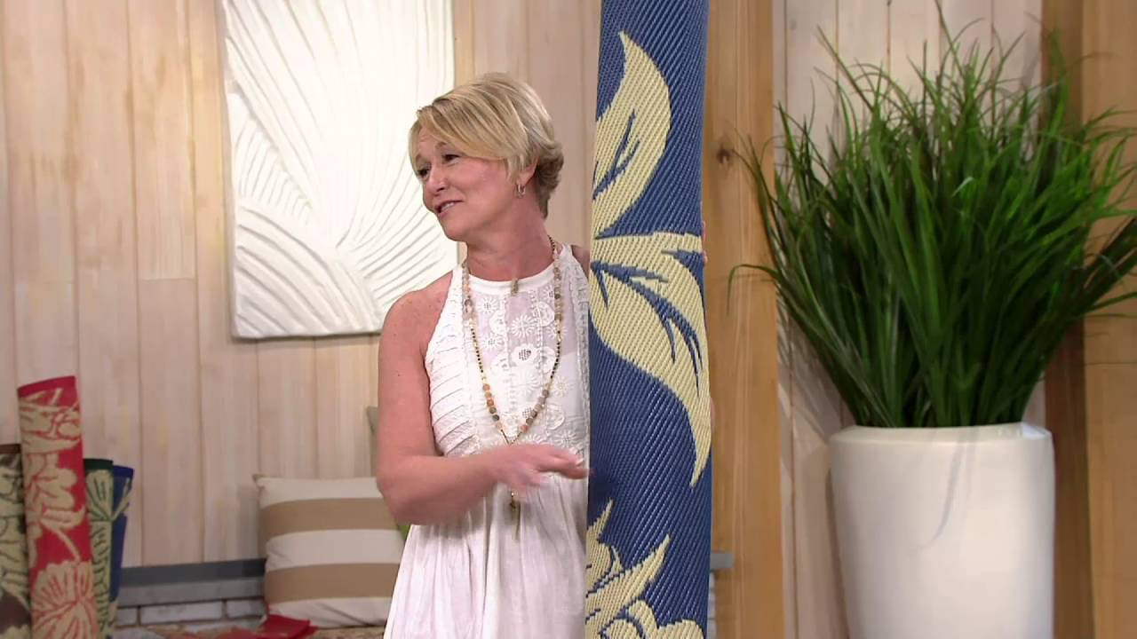 Barbara King Floral Dance Reversible Outdoor Mat W