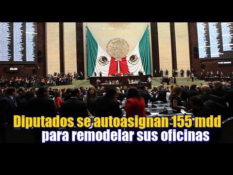Diputados se autoasignan $155 mdp para remodelar sus oficinas