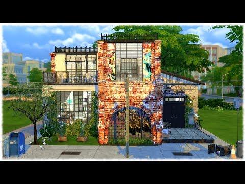 The Sims 4: Speed Build // URBAN CITY HOUSE + CC LINKS
