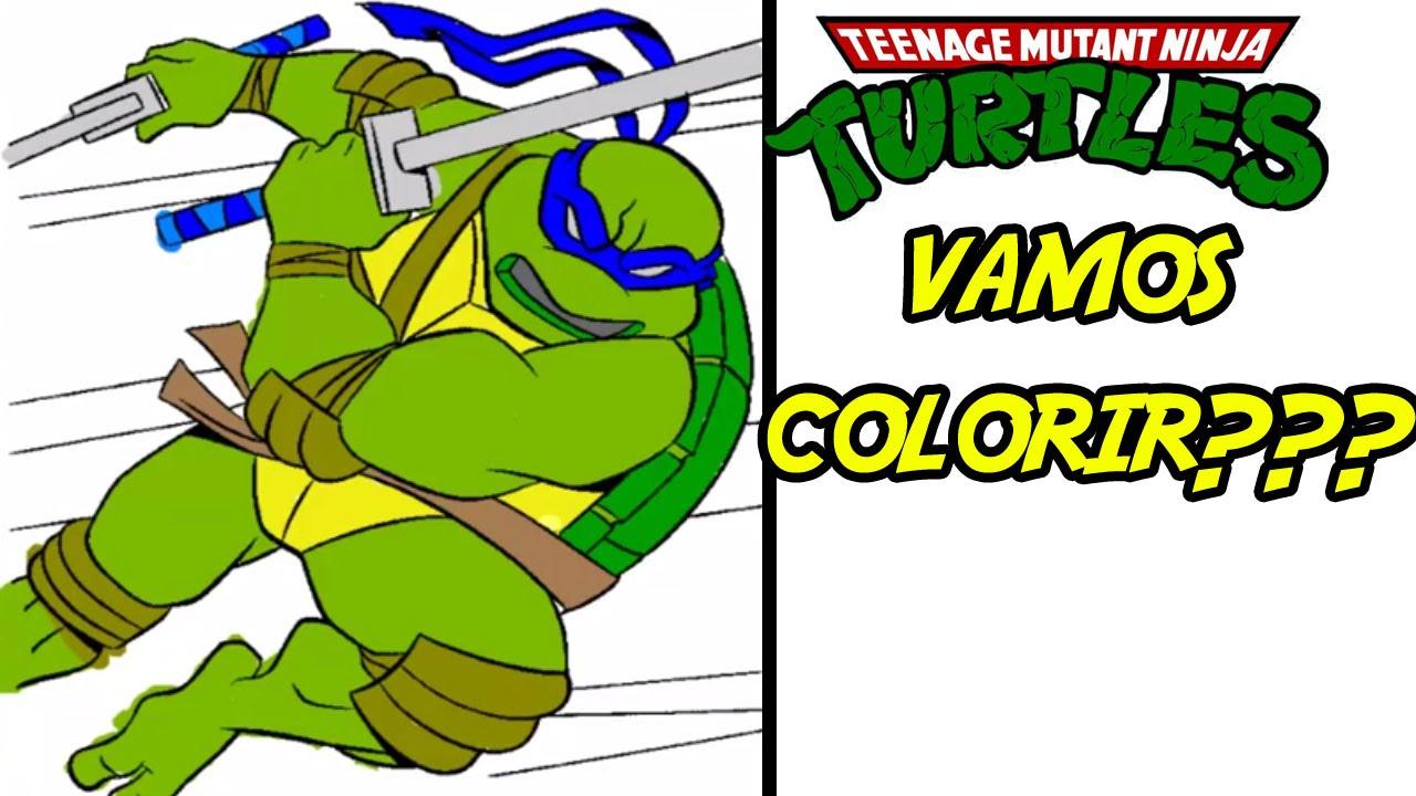 Colorindo Tartarugas Ninja Leonardo Em Alta Velocidade Youtube