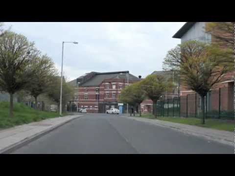 Drive around Hulme, Manchester where the Crescents used to be - April 2012