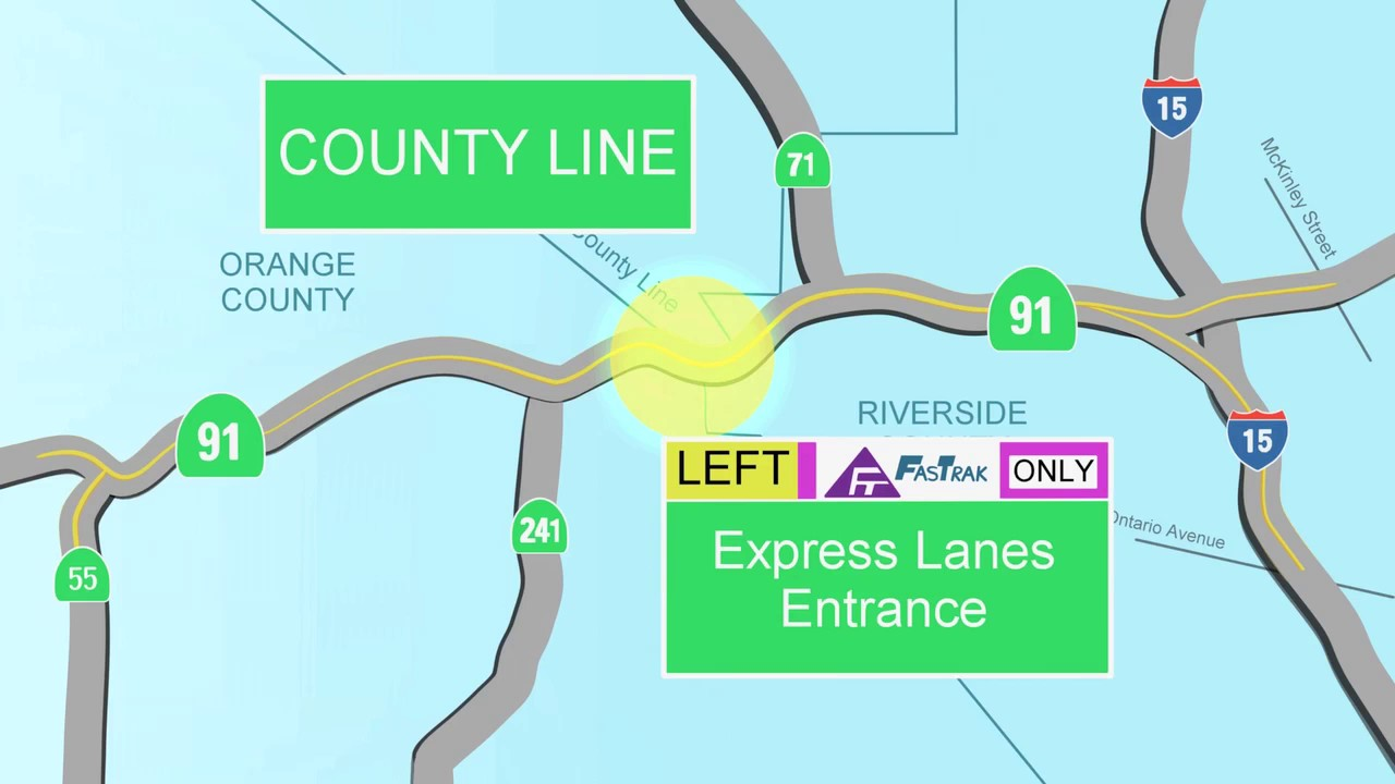 NEW 91 Express Lanes Extension to Riverside County