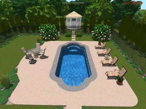 3d swimming pool design services youtube for Pool design services