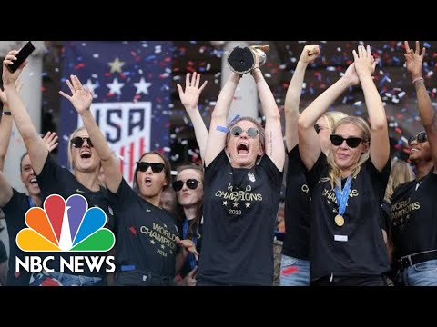 WATCH: Highlights From U.S. Women's World Cup Ticker-Tape Parade, Ceremony | NBC News