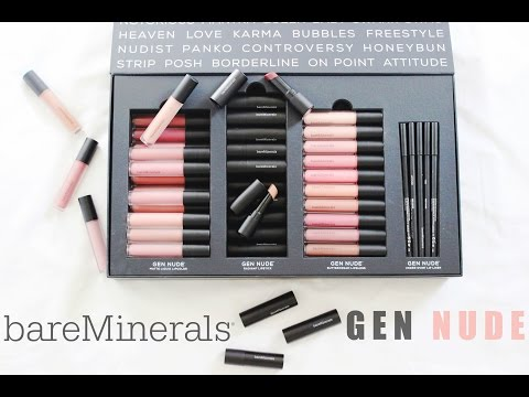 bareMinerals NEW Gen Nude Lip Collection | All 60 Shades Swatched