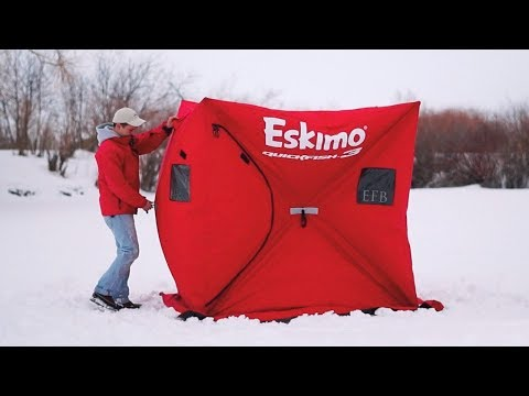 ESKIMO QUICKFISH 3 - ICE FISHING HUT Review And HOW TO Update
