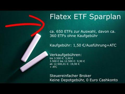 Flatex Sparplan - Kosten und Anlage eines ETF-Sparplan