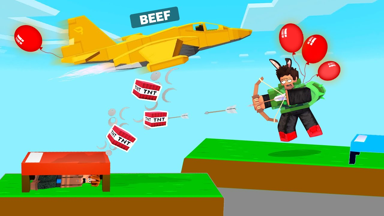TNT Airstrike!! in Roblox BedWars