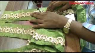 Saree Blouse Choli lace Making-Sewing Cutting Method Of Sari Blouse