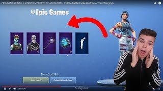 TRANSFER SKINS to FORTNITE!! How to Link Accounts English
