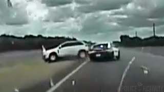 Dashcam Shows Police In Wild High Speed Chase With Robbery Suspects