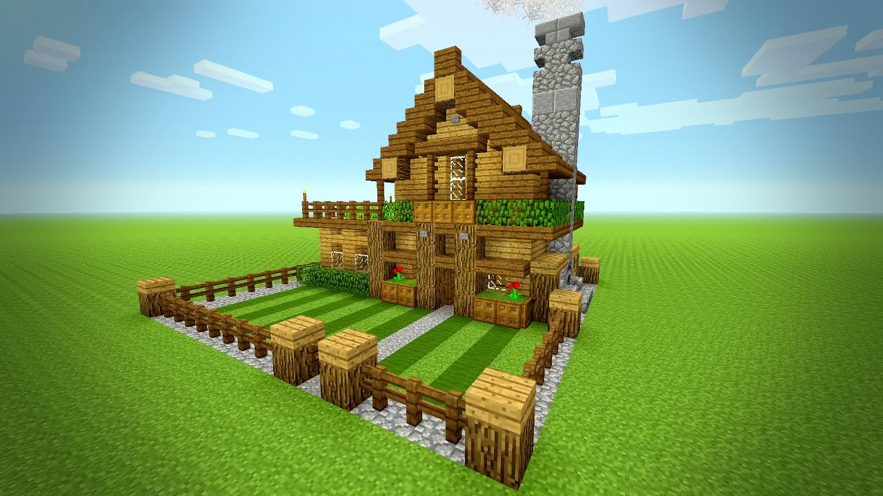 Minecraft How To Build A Small Survival House Tutorial