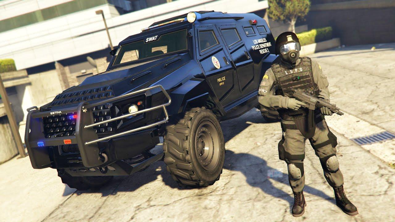 Police Cop Car Live Wallpaper Gta 5 Mods Play As A Cop Mod Gta 5 Police Swat Lspdfr