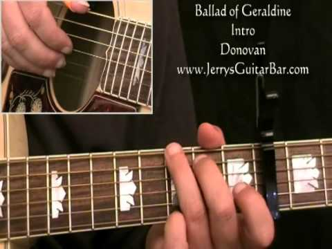 How To Play Donovan Ballad of Geraldine (intro only)