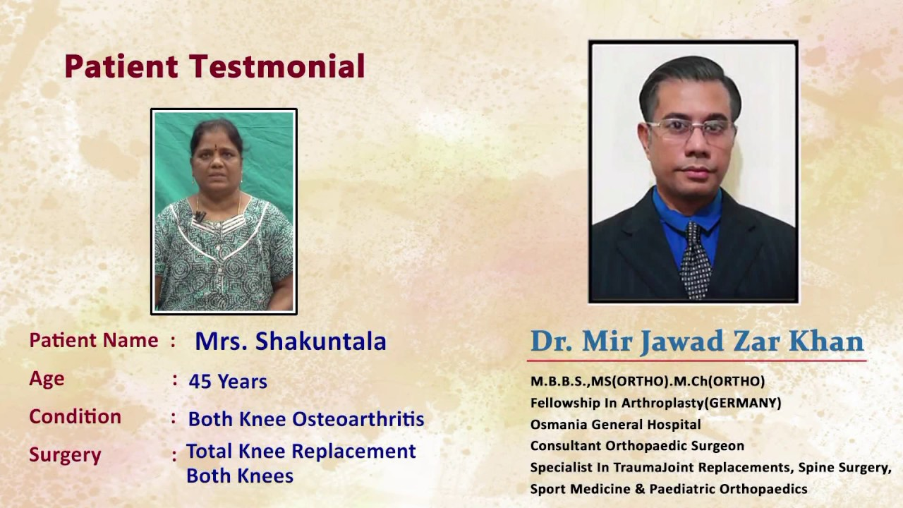 Total Knee Replacement Surgery By Dr  Mir Jawad Zar Khan | Best Knee  Replacement Surgeon in India