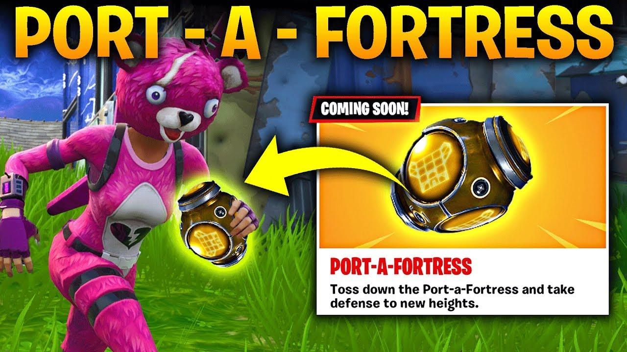Fortnite Port A Fortress New Item Update Build A Big Fort