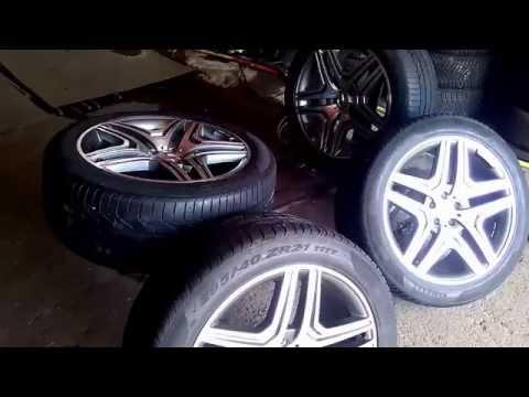 Диски с шинами на Mercedes GL 6,3 R-21 оригинальные