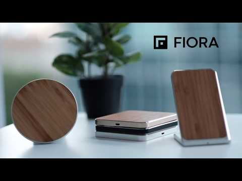 Wireless Charging Pad/Stand Fiora Wood Collection 2018