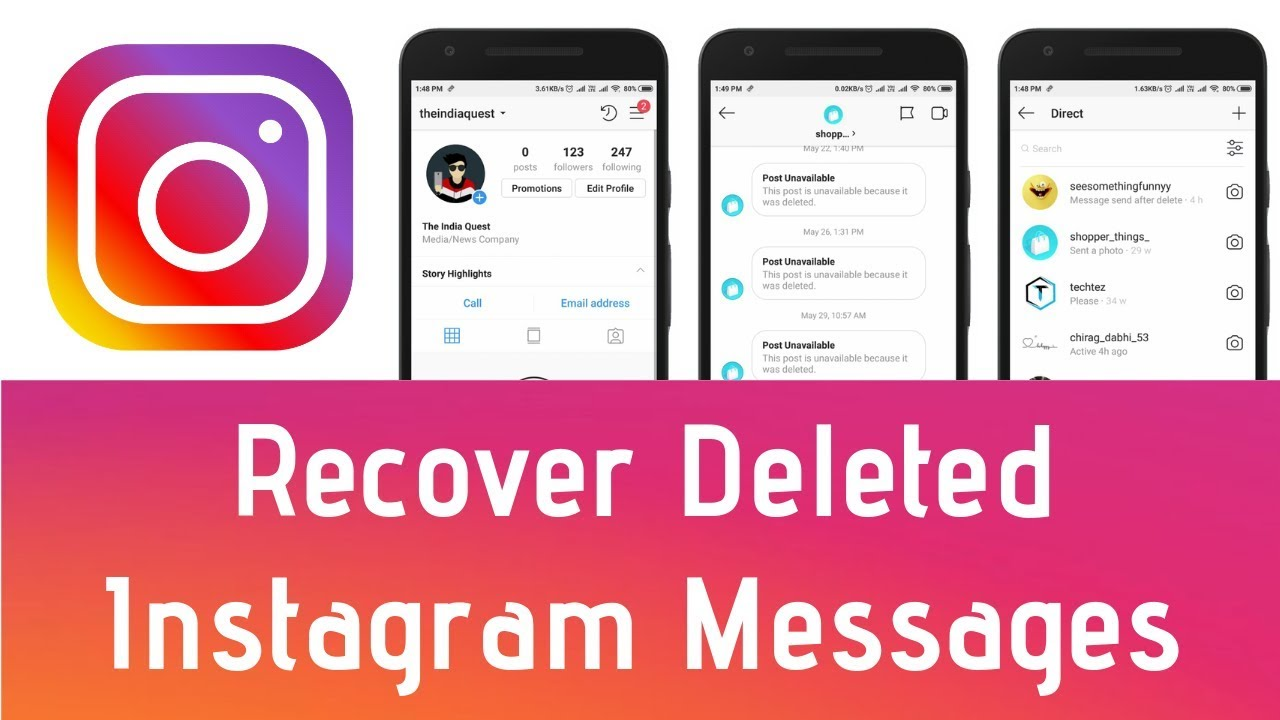 How To Recover Deleted Instagram Messages | Restore Deleted DM