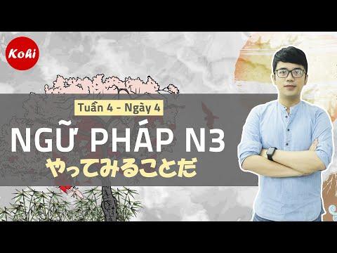 Ngữ Pháp N3 Somatome   Tuần 4 - Ngày 4 siêu hấp dẫn cùng Kohi Việt Nam