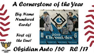 2019 Panini Chronicles FOTL - Obsidian Auto /50!  RC /17!  Great numbered cards!