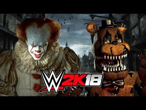 PENNYWISE vs NIGHTMARE FREDDY!   WWE 2K18 Gameplay