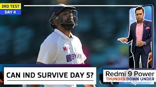 407 RUNS - too BIG a TARGET for IND?   Redmi 9 Power presents 'Thunder Down Under'   3rd Test Day 4