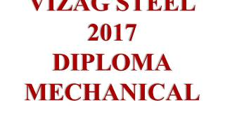 VIZAG STEEL JUNIOR TRAINEE PREVIOUS PAPER SOLUTION 01